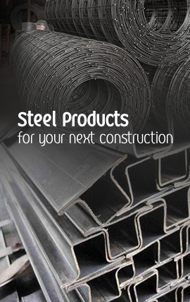 Steel Products like B.R.C and Hollow Sections